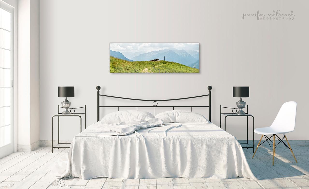 Alpinkunst Beispiel Schlafzimmer